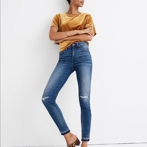 """Madewell 9"""" High-Rise Skinny Jeans in York Wash"""